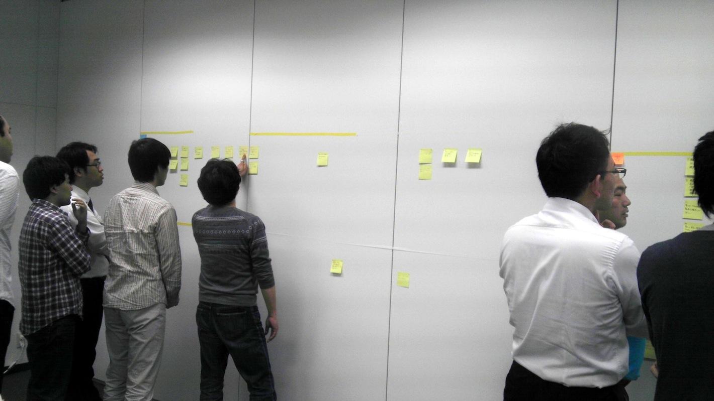 agilejapan仙台_壁に貼って議論3