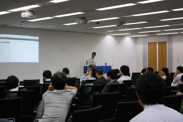 講演のようす(Agile Japan 2014 スポンサーセッションB-3)