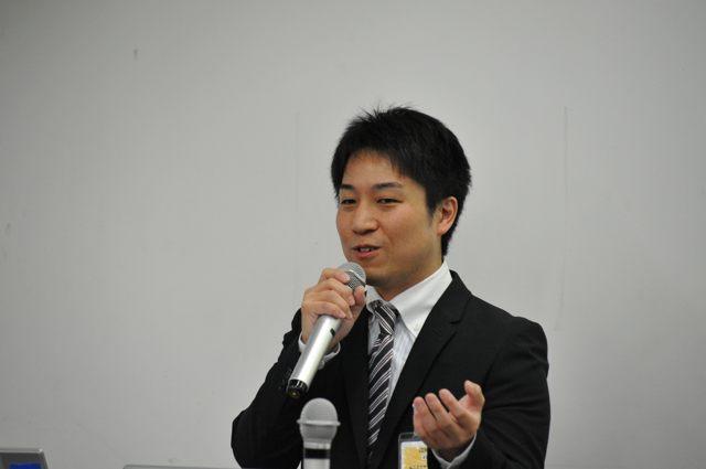講演中の西河誠さん(Agile Japan 2014 チュートリアル)