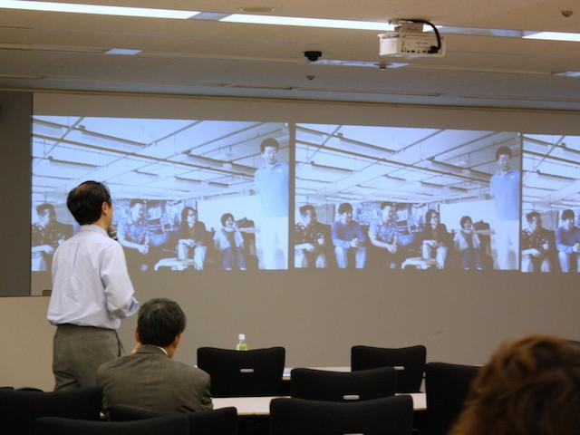 徳島との中継セッションのようす(Agile Japan 2014 産直セッションD-1)