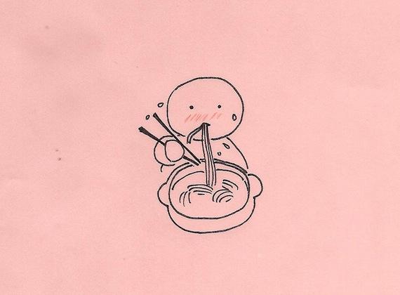 参鶏湯の〆はラーメン