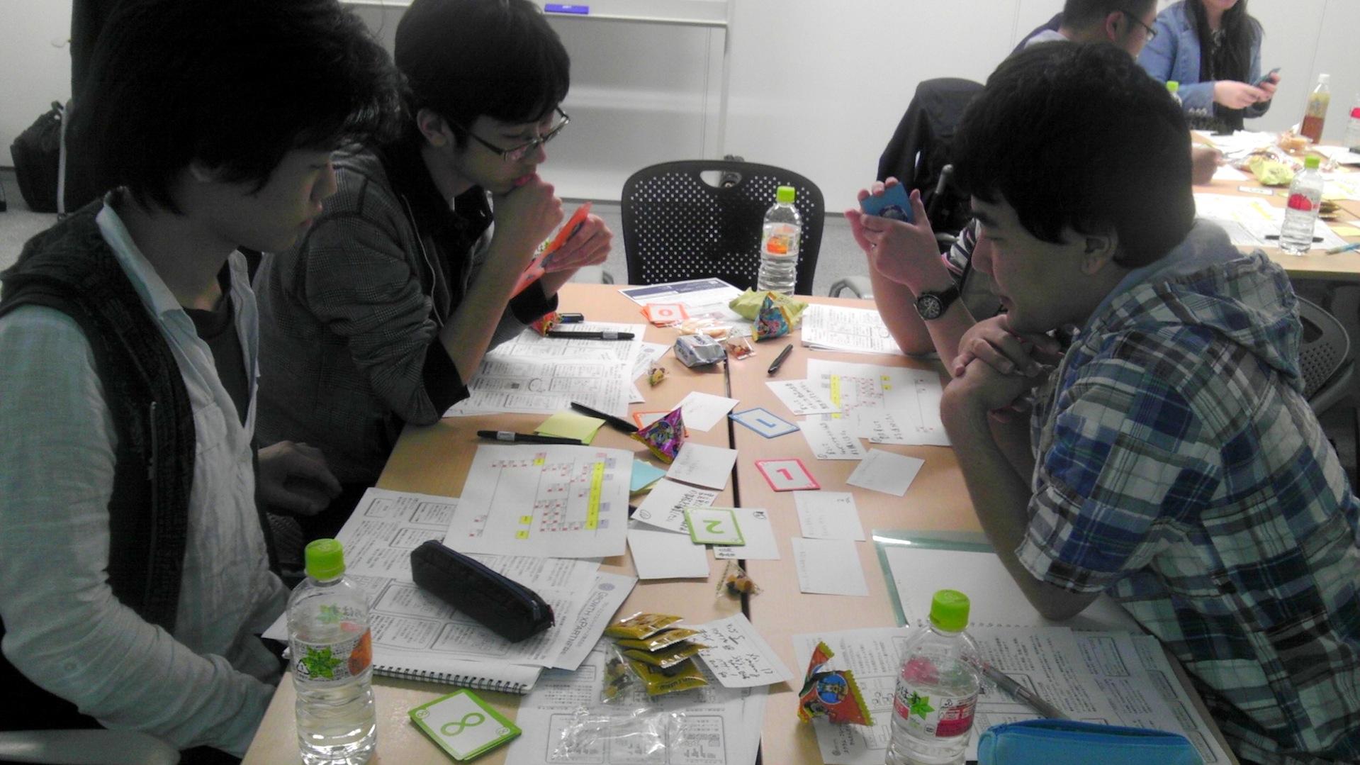 agilejapan仙台_ストーリーを見積もるワーク中2