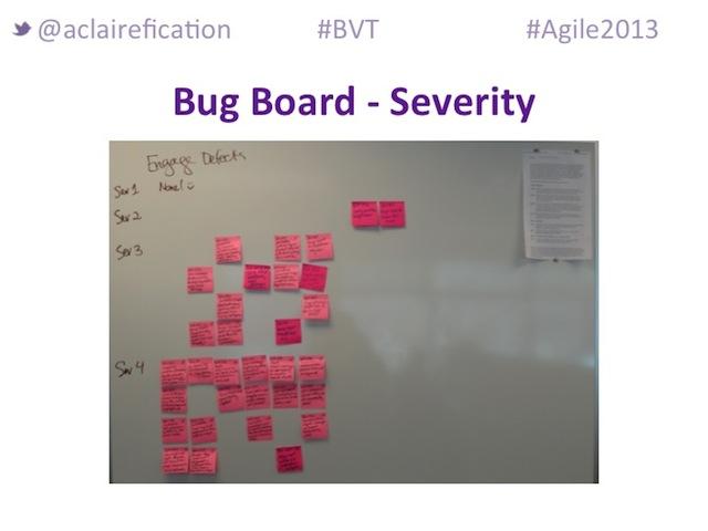 Agile2013_BigVisibleTesting_BusinessAdvocate-BugBoard