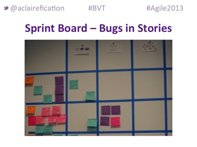Agile2013_BigVisibleTesting_TechnologyAdvocate-BugBoard