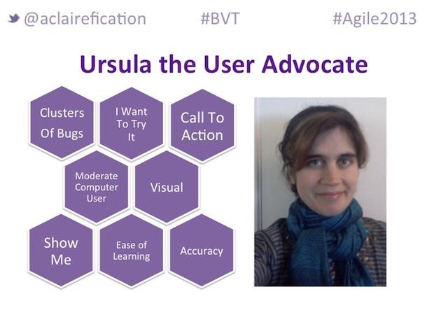 Agile2013_BigVisibleTesting_UserAdvocate-Persona