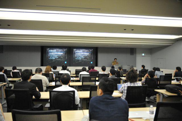 講演のようす(Agile Japan 2014 公募セッションC-1)