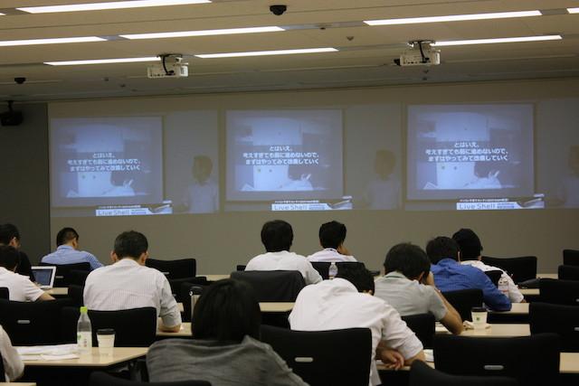 講演中の宇徳浩二さん(Agile Japan 2014 産直セッションD-2)