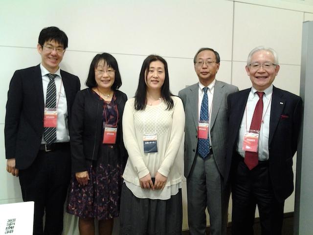 Agile Japan 2015 A-4パネルディスカッションの登壇者と筆者